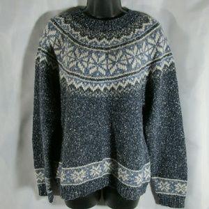 Blue Fair Isle Sweater